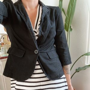Little black cotton/linen jacket